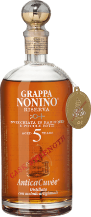 Grappa Nonino Antica Cuvée Riserva Cask Strength 5 years 0,70 L, 59,9 % Vol.