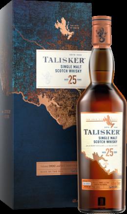 Talisker 25 Years Isle of Skye Single Malt Whisky Scotch, 0,7 L, 45,8% Vol.