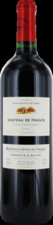 """Château de Francs """"Les Cerisiers"""" Francs Côtes de Bordeaux AOP 2018"""