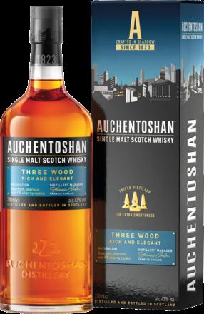 Auchentoshan Three Wood Lowland Single Malt Scotch Whisky, 0,7 L, 43% Vol.