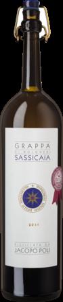 Grappa Elevata in Barili di Sassicaia 0,50 L, 40% Vol. in runder Metall GP