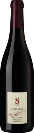 Schubert Pinot Noir Marion's Vineyard Wairarapa 2017