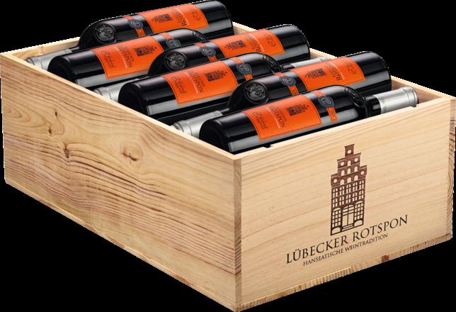 Lübecker Rotspon Cuvée Tradition Pays d'Oc IGP, 12er Holzkiste 2016