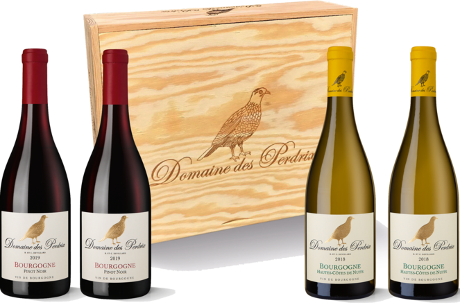 Domaine des Perdrix Caisse Grand Vin 4er Holzkiste