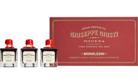 Aceto Balsamico di Modena Kollektion Monolegni Geschenkbox, 3 x 50 ml
