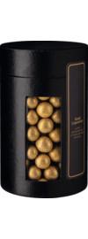 Goldene Schokoladen Lakritzkugeln Geschenkverpackung (Lederoptik), 500 g